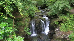 Torc Waterfall in Killarney National Park - stock footage