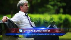 Optical Lower Third Stock After Effects