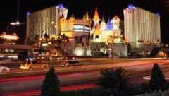 Excalibur Hotel Casino Las Vegas  - Time-lapse - 1920x1080 HD Arkistovideo