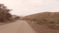 The road to Harar Stock Footage