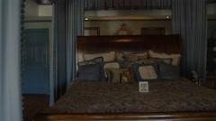 Dallas TV series master bedroom presentation Stock Footage