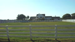 Famous Southfork Ranch from Dallas TV series in a sunny day Stock Footage