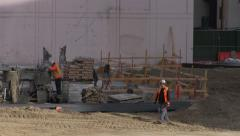 Construction Workers At The Emmys Building Stock Footage
