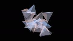 Translucent pyramid.Seamless loop.Alpha matte - stock footage