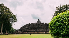Borobudur Timelapse with Slider Stock Footage