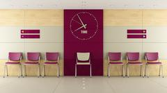 Contemorary waiting room - stock illustration