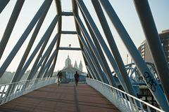 Nemo museum bridge - stock photo