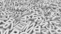 Letters.Seamless loop Stock Footage