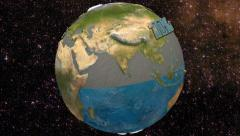 3D Water percentage in the Earth. 4K. Ultra HD. Stock Footage