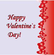 Abstract Valentines Day background with hearts. Place for copy or text Stock Illustration