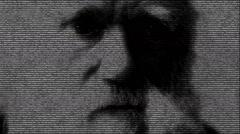 Charles Darwin animation Stock Footage