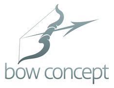Bow and arrow design Stock Illustration