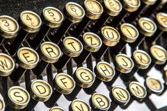 Close-up of old typewriter Stock Photos