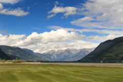 Summer Alps - stock photo