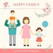 Family with children kids people concept flat icons set of parenting, time Piirros