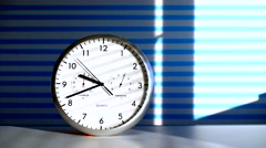 clock on office table - stock footage