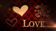 Valentine's Day Romantic Love Icon Animation Stock Footage