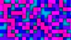Transition Pixels Rainbow Stock Footage