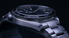 Studio shot of a Beautiful Swiss watch - stock footage