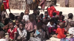 Samburu tribe children. Kenya. Stock Footage