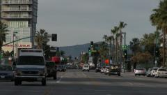 Lankershim Street Shot Pulls Out Stock Footage