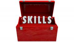 Stock Video Footage of Skills Toolbox Education Expertise Knowledge Training
