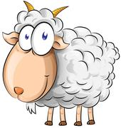 Goat cartoon - stock illustration