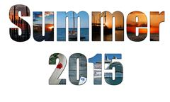 Summer images inside the word summer 2015, holiday, vacation concept Piirros