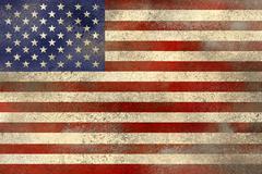 USA flag filthy - stock photo
