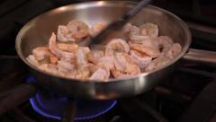 Shrimp in the pan Stock Footage