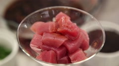 Ceviche - putting sauce Stock Footage