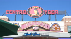 4k Centro Ybor City sign in Tampa Florida Stock Footage