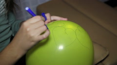 wishes on a balloon - stock footage