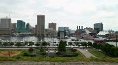 Baltimore Inner Harbor Stock Footage