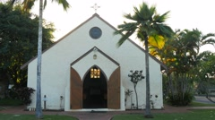 Holy innocents church maui Stock Footage