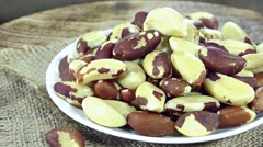 Rotating Brazil Nuts (loopable) Stock Footage