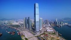 4K Hong Kong Aerial Stock Footage