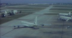 Paris Vintage  60s 16mm Aiport Planes Cars Air France 3 Stock Footage