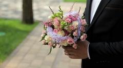 Beautiful wedding bouquet Stock Footage