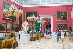 Visitors tour at the Hermitage Stock Photos