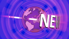 NEWS intro Animation with rotating earth  - stock footage