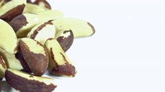 Brazil Nuts (seamless loopable) Stock Footage