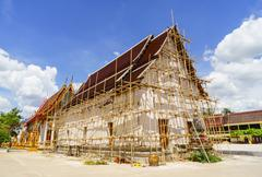 Thai Buddhist temple conservation - stock photo