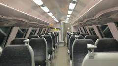 Empty Train Wagon - Brussels Stock Footage