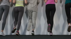 Group of girls coached glutes Stock Footage