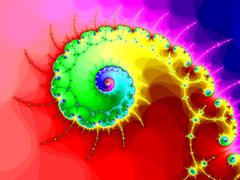 Stock Illustration of Decorative fractal spiral in a bright colors