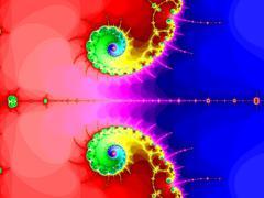 Double fractal spiral - stock illustration