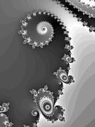 Decorative fractal spiral in a graphic style - stock illustration