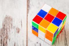 Rubik Cube Toy Stock Photos
