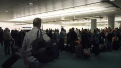 Busy Baggage Claim at Airport Stock Footage